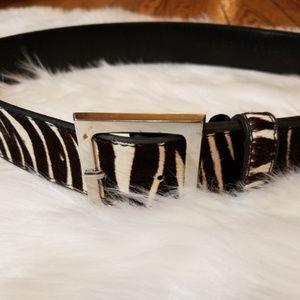 Accessories - Calf Hair Zebra Belt